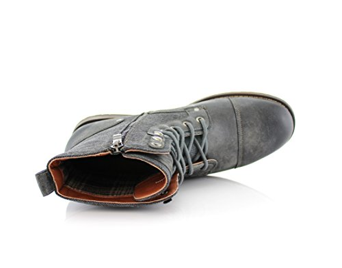 Buckles Grey Ankle Polar Mike Lace Fashion Shoes With Winter Fox Up Casual Boots Dress Xw146wqr