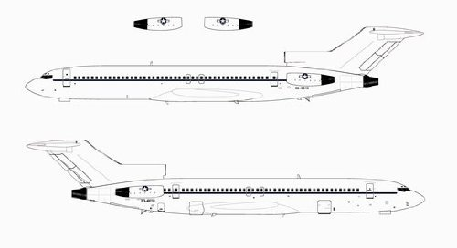 Limited Production Dragon Models 83-4618 1//200 United States Air Force C-22C VIP Transport 727-200