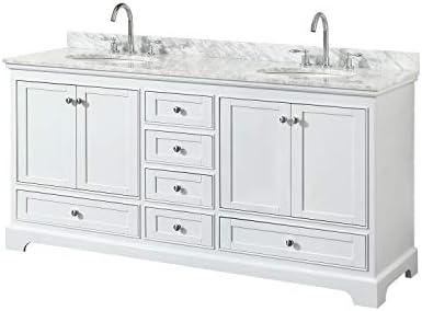 Wyndham Collection Deborah 72 Inch Double Bathroom Vanity