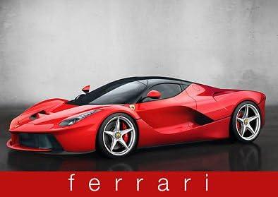 Amazon De Ferrari Rot Sport Auto Leistung Auto A3 Poster Kunstdruck Bild Art