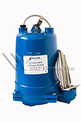 Goulds WE0512HH Submersible Effluent Pump, 1/2 HP, 230 V