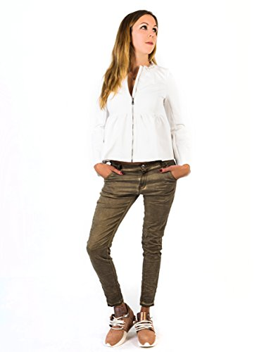 Vaqueros Jeans Mujer Relaxed Bianco gris para OWgwqAAvS