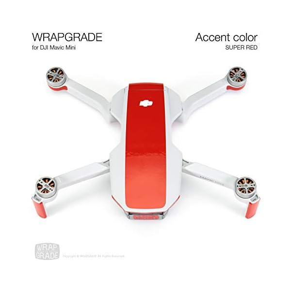 WRAPGRADE Colore di Accento Skin Compatibile con DJI Mavic Mini (Super Red) 3 spesavip