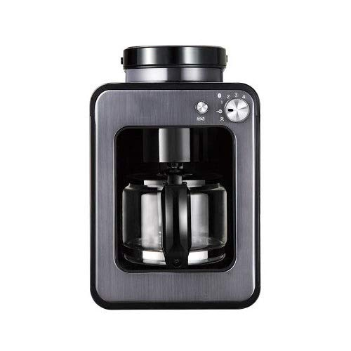 Kylinxsw Coffee Maker Coffee Machine Stainless Setting Silent Operation Drip Coffeemaker with Coffee Pot and Filter for Home and Office (Color : Gray)