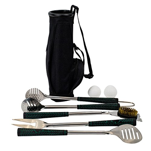 (Golf BBQ Tools - 7 Piece Golf Grip Grilling Set)