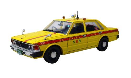 Model Car NISSAN 430 CEDRIC 4 doors sedan 200 Standard Yamato Taxi 1/43 DISM Japanese Model (Sedan Diecast Model)
