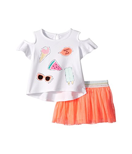 Kate Spade New York Kids Baby Girl's So Cool Skirt Set (Infant) Fresh White 12 Months ()