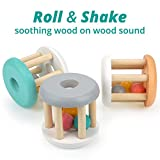 DUCKBOXX XX Wooden Rattle Rollers for Babies Ages