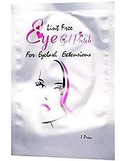 Under Eye Gel Pads Kit, Hydrogel Eye Patch Lash Gel Pad 50Pair / Set Ögonfransförlängningsplåster för återfuktande vatten och ljusare området under ögonen(Silver girl)