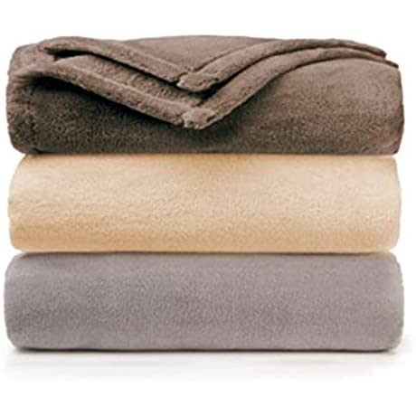 Golden Mills Coral Fleece Golden Gem Blankets Full Size Set Of 12 Blankets Platinum Color
