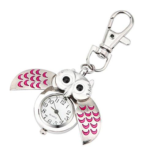 Livoty Fashion Gorgeous Owl Watch Clip Pocket Keychain Organizer (Pink) (Mfi Transmission Manual)