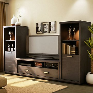 Skyline Chocolate Entertainment Center by OFF