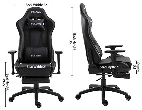 Awesome Dowinx Gaming Chair Ergonomic Office Recliner For Computer With Massage Lumbar Support Racing Style Armchair Pu Leather E Sports Gamer Chairs With Evergreenethics Interior Chair Design Evergreenethicsorg