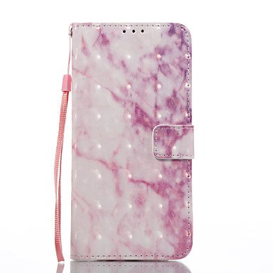 Casos hermosos, cubiertas, Para la galaxia s8 samsung galaxia s8 más cubierta del caso patrón de mármol rosado 3d pintó la caja del teléfono de la carpeta del stent ( Modelos Compatibles : Galaxy S4 ) Galaxy S6