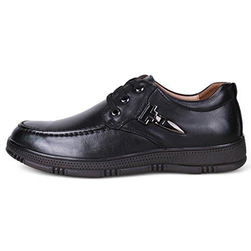 de al Libre Cuero para Zapatos Trabajo Zapatos Grandes de Aire Hombre Black Zapatos Zapatos aXwFf8q