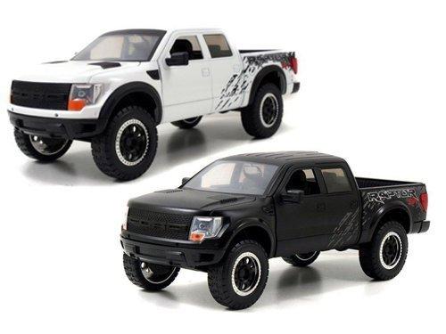 Jada Toys 2011 Ford F-150 SVT Raptor Matt Black & White 2...