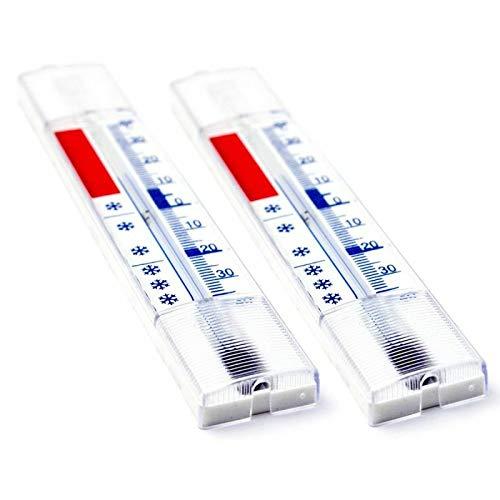 40 /° c nevera term/ómetro nevera 5 piezas sistema frigor/ífico anal/ógico con ganchos visualizaci/ón de la temperatura // congelador