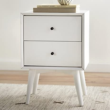 Nightstand Parocela 2 Drawer Mahogany Wood  White Parocela 7 Drawer Dresser R18