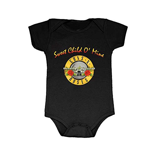 Price comparison product image Guns N Roses Sweet Child O Mine Baby Romper - Black (6-12 Months)