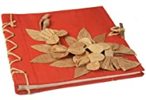 Flaura Mini Red Handmade Photo Album, Classic Style Pages (20cm x 20cm x 2cm)