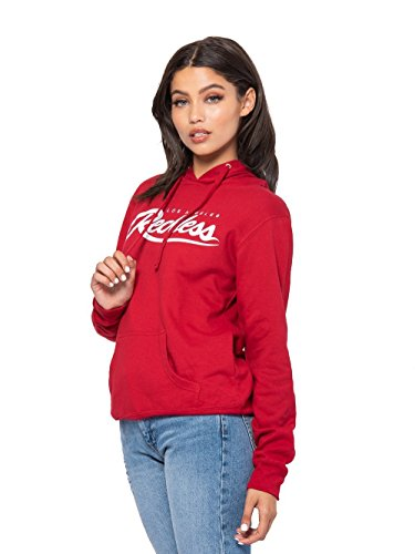 Young and Reckless - Big R Script Jr Hoodie - Red/White - S - Womens - Tops - Sweatshirts - RED/White