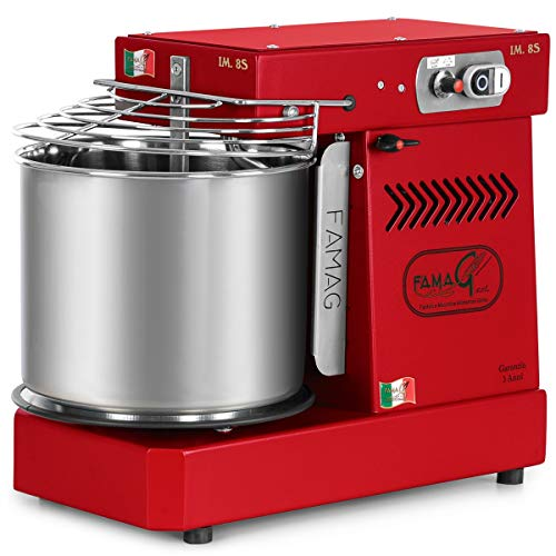 Famag IM-8S Spiral Dough Mixer, Variable Speed, 11.5 quart (Ruby)