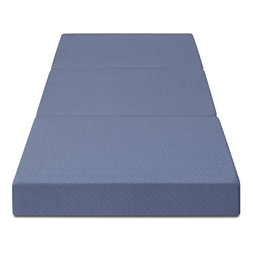 Olee Sleep  Topper Tri-Folding Memory Foam, 4 Inch, Grey