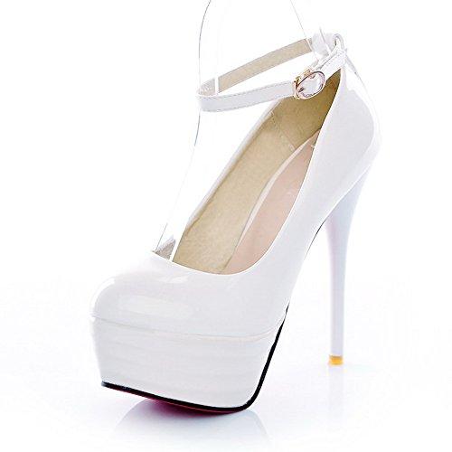 Balamasa - Chaussures À Semelles Compensées Et À Talons Hauts Pour Femme, Blanc (blanc), 38 Eu