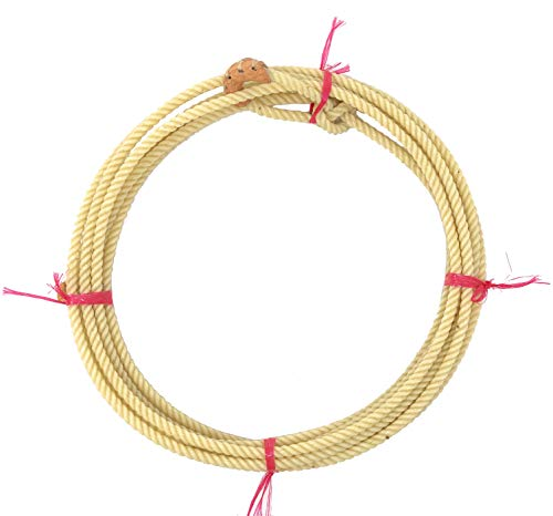 AJ Tack Wholesale Kid Rodeo Lasso Lariat Rope with Burner Medium Lay 20ft White Made in USA