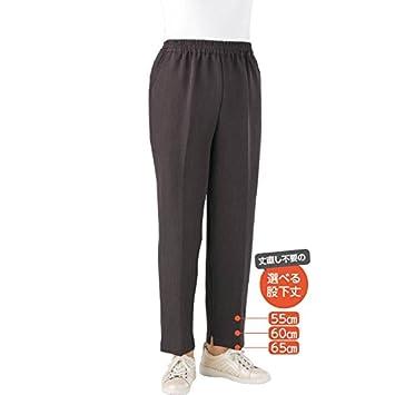 e67c91af7c6380 Amazon | 婦人トレヒート裾ファスナーパンツ(股下55cm)ブラックL | ケア ...
