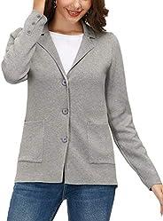 KANCY KOLE Women's Long Sleeve Casual Blazer Button Down Work Office Bussiness Ja