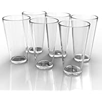 Royal Beer Glass Set - 6 Pack - Holds a full Bottle of Beer up to 16-ounces - Shatter-Resistant, Great for Pubs, Bars, Restaurants