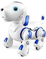 RuleaxAsi جهاز التحكم عن بعد 2.4 جيجا هرتز روبوت الكلب جرو ذكي ذكي تفاعلي يرقص ينغني ألعاب قابلة للبرمجة هدية عيد ميلاد للأطفال