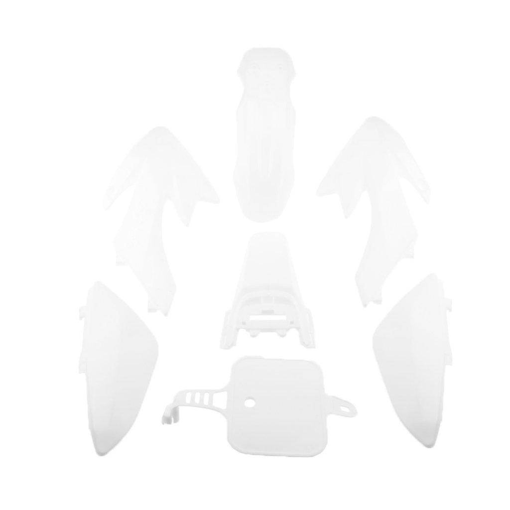 Baoblaze Full Boby Fairing Kit for Honda CRF50 Pit Dirt Bike 50cc-125cc White Plastic Set