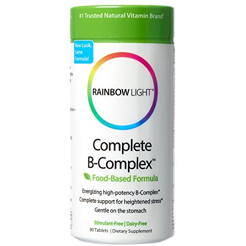 Rainbow Light - Complete B-Complex, 90 Count, Food Based, Energy Support (B-compleet B-complex Vitamin)
