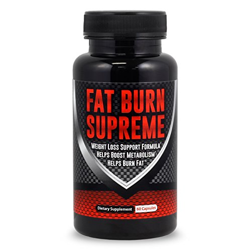 FAT BURN SUPREME - The #1 Fat Burner - Garcinia Cambogia, Green Tea Leaf, Acai Fruit & 4 More Fat-Burning Ingredients - Weight-Loss Supplement - 60 Capsules