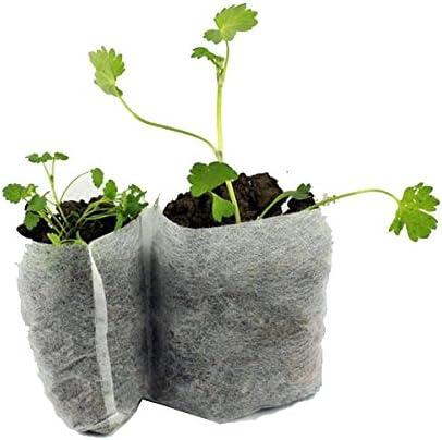 Enticerowts Lot de 100 sacs de plantation en tissu non tiss/é pour semis jardinage et jardinage 100 pi/èces.