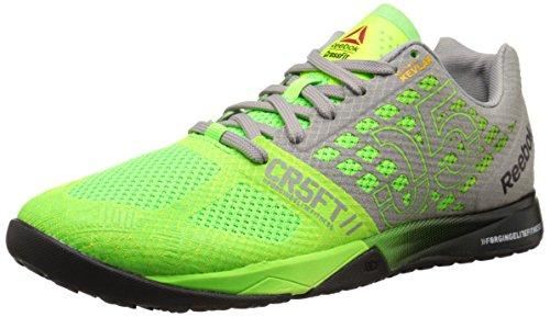 Reebok Men's Crossfit Nano 5.0 Training Shoe, Solar Green/Tin Grey/Black/Shark, 10 M US