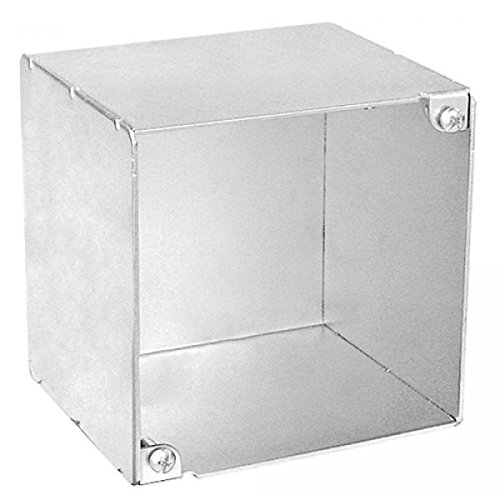 1/2 In. Extra Deep Blank Junction Box, No Knockouts, .0625 Galvanized Steel for Dimmers, Cameras, Speakers, Strobes, Signals & Electrical & Electronic Devices ()