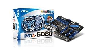 MSI LGA1155/Intel P67(B3)/DDR3/SATA3&USB3.0/A&GbE/ATX Motherboard P67A-GD80 (B3)