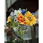 Gerbera-Rose-Cornflower-Silk-Flower-Arrangement