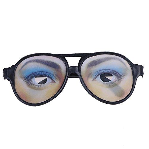Whitelotous Funny Costume Eye Glasses Toy Halloween Party Prop Gag Gift (Woman's Eyes)