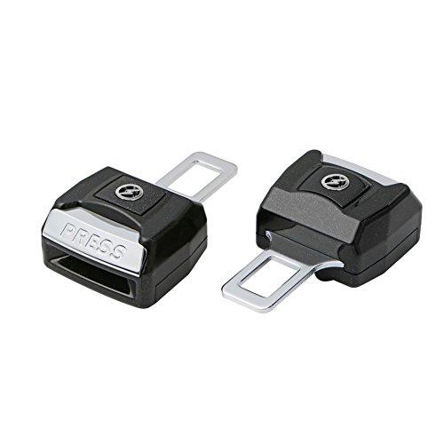 2PCS Seat Belt Extender Pros Adjustable Seat Belt Clip Extender Extension