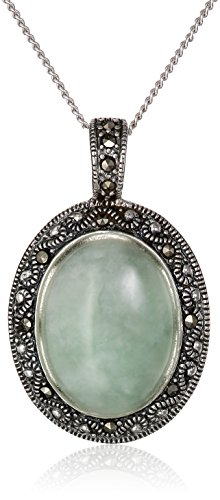 Sterling Silver Marcasite Pendant Necklace