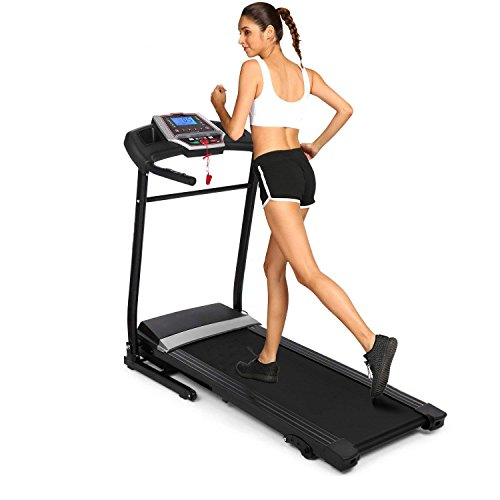 Simpfree Folding Treadmill, Electric Motorized Treadmill Machine with Incline for Home/Office Exercise (Black) For Sale