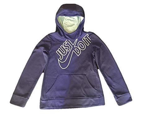 Nike Girls Just Do It Therma Pullover Training Hoodie Purple AV2913 596 (Large 12-13 yrs)