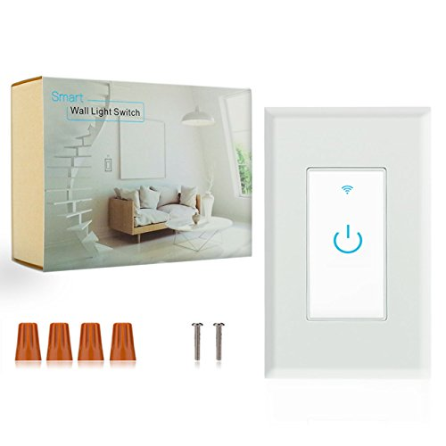 Wifi Smart Switch, Wifi Light Switch 2 Packs, Works with Amazon Alexa and Google Home, App Remote Control with Timing Funtion, No Hub Required (Neutral Wire Required) by Lesim (Image #5)