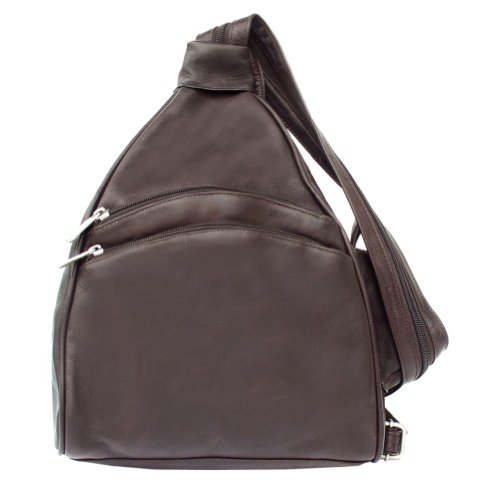 Piel Leather Two-Pocket Sling – Chocolate, Bags Central