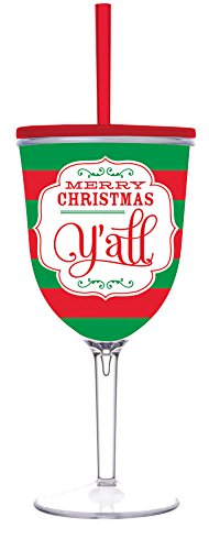 Christmas Acrylic Wine Glass
