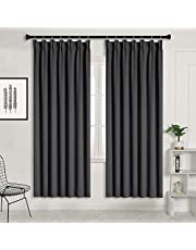 SUO AI TEXTILE Blackout Curtains Thermal Insulated Pencil Pleat Window Treatments 2 Panels